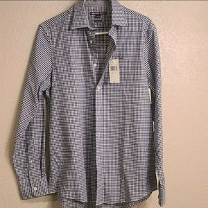 Michael Kors Checkered Pattern Casual Button Front